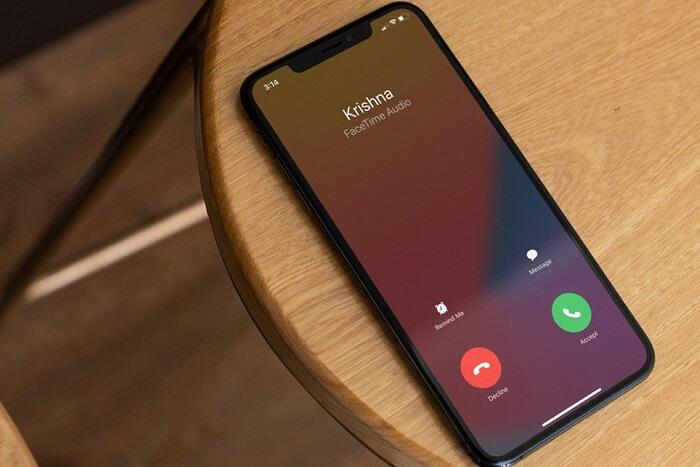 Hiển thị cuộc gọi FaceTime
