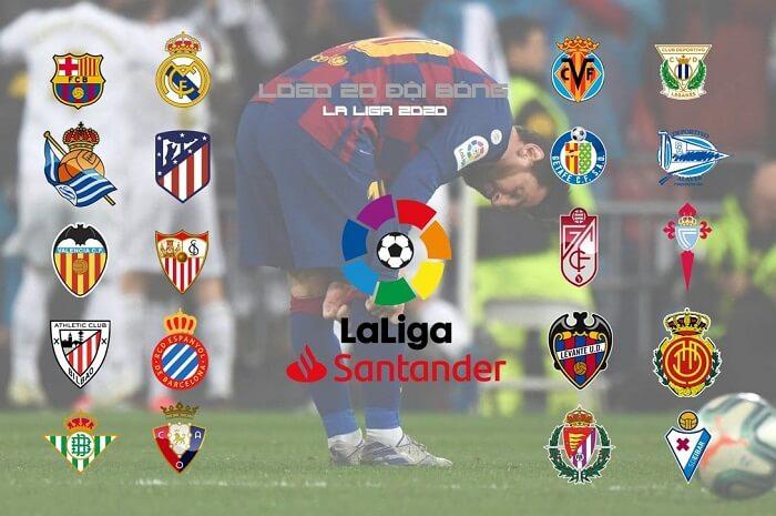 La Liga là Giải bóng đá vô địch quốc gia Tây Ban Nha với 20 CLB tham gia thi đấu